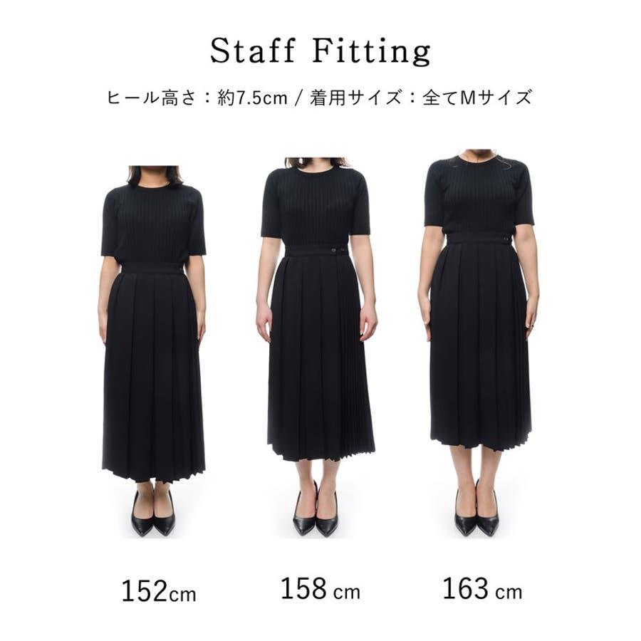 異なるプリーツを組み合わせたレディライクなデザインスカート。 9