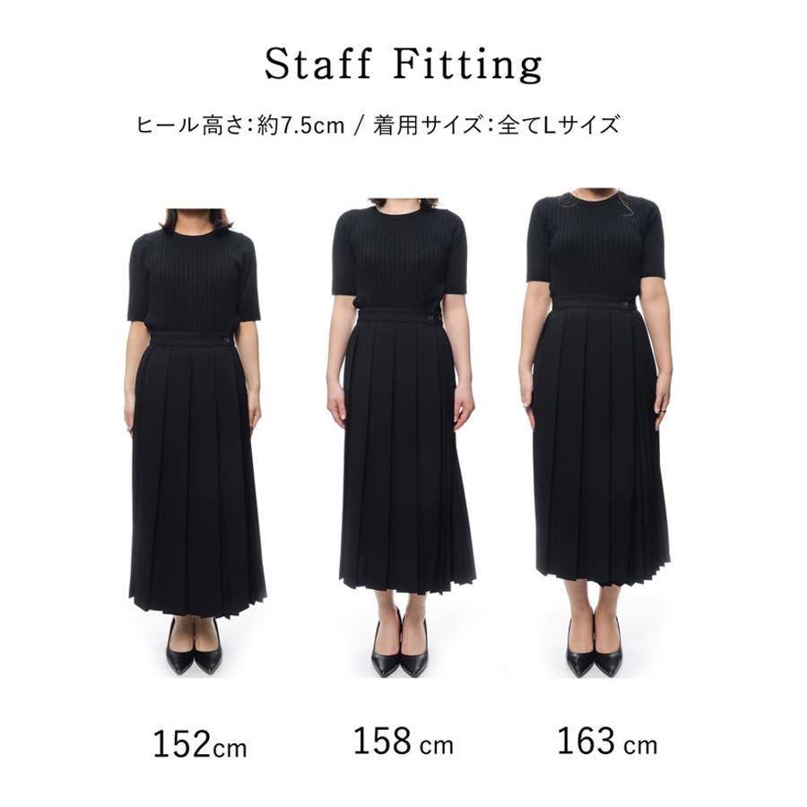異なるプリーツを組み合わせたレディライクなデザインスカート。 10