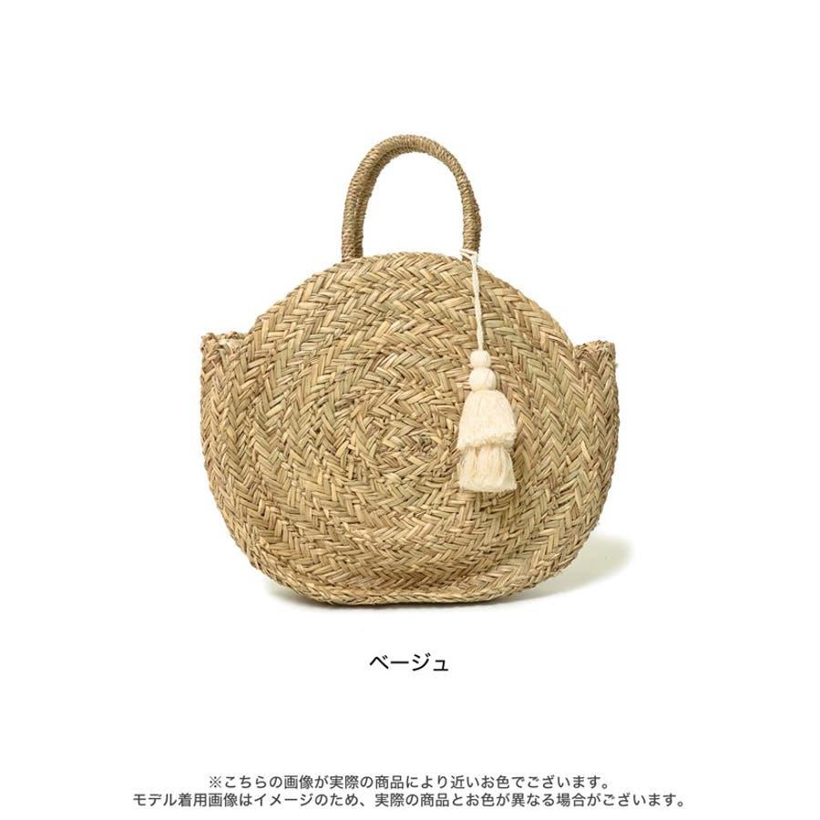 夏に取り入れたい大人可愛いサークルかごバッグ 丸型ハンドバッグ バッグ 2