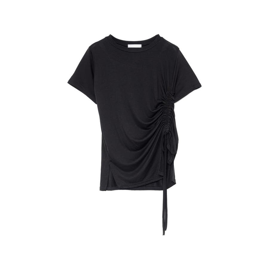 ワンランク上の大人のデザインTシャツ サイドドロストとろみTシャツ トップス 21