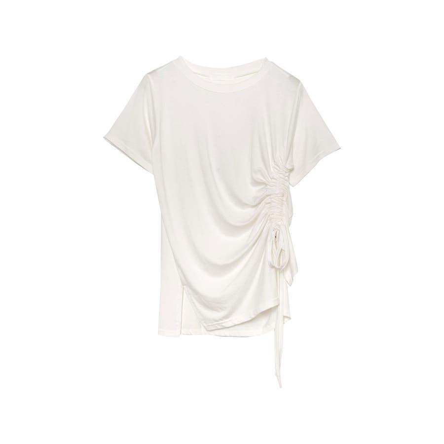 ワンランク上の大人のデザインTシャツ サイドドロストとろみTシャツ トップス 16