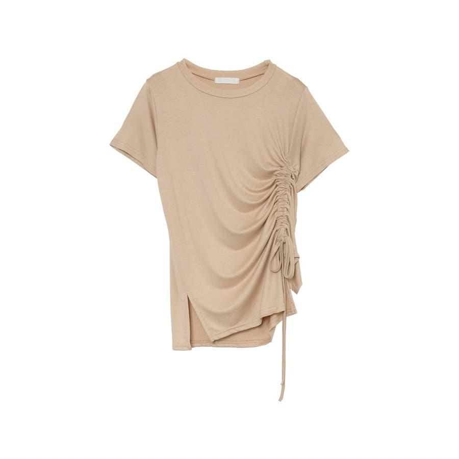ワンランク上の大人のデザインTシャツ サイドドロストとろみTシャツ トップス 41