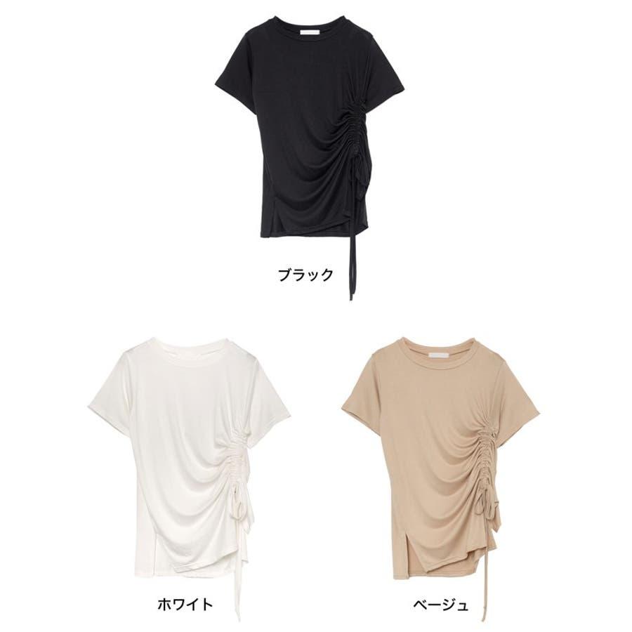 ワンランク上の大人のデザインTシャツ サイドドロストとろみTシャツ トップス 2