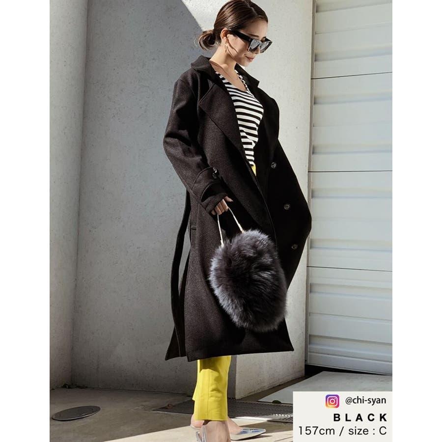 こなれた女性らしさを演出するトレンチ風デザイン ジャージーメルトントレンチデザインコート ジャケット/アウター/トレンチコート 5
