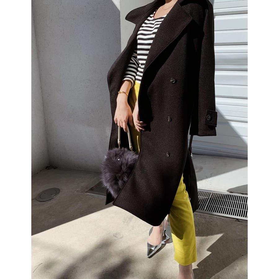 こなれた女性らしさを演出するトレンチ風デザイン ジャージーメルトントレンチデザインコート ジャケット/アウター/トレンチコート 6