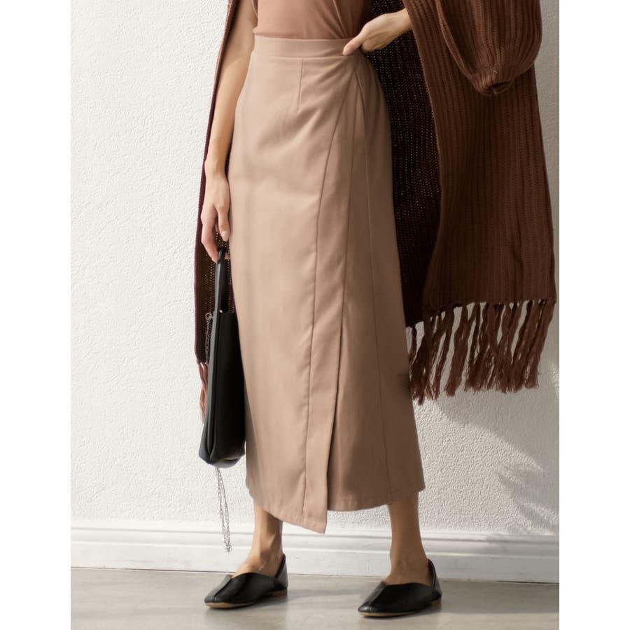 スタイリングを選ばない万能なルックスが魅力 ラップ風ロングタイトスカート スカート/スカート 41