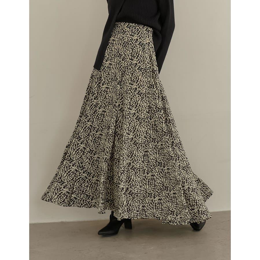 歩くのが楽しくなる「揺れ感フレア」 [低身長向けSサイズ対応]総柄マキシ丈スイングフレアスカート スカート/スカート 21