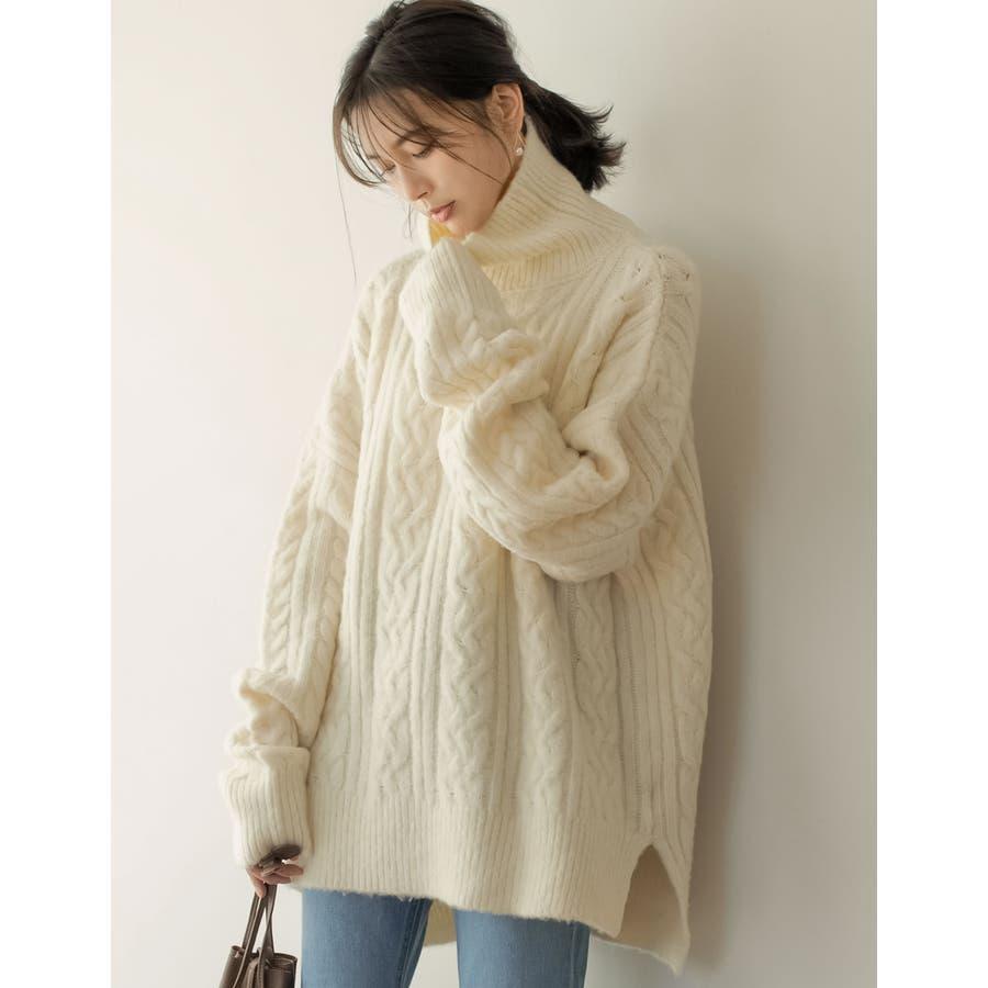 女性らしくも甘すぎない大人のケーブル編み 18