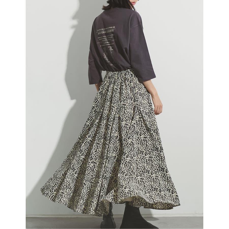 歩くのが楽しくなる「揺れ感フレア」 [低身長向けSサイズ対応]総柄マキシ丈スイングフレアスカート スカート/スカート 9