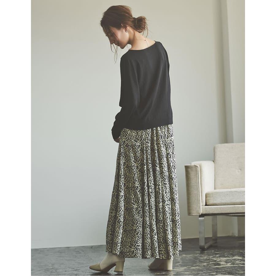 歩くのが楽しくなる「揺れ感フレア」 [低身長向けSサイズ対応]総柄マキシ丈スイングフレアスカート スカート/スカート 7