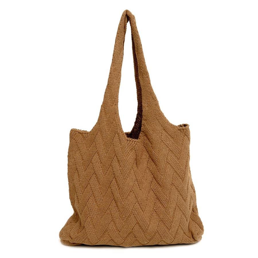 バッグだって春仕様。ナチュラルな雰囲気を楽しんで シンプルニットトートバッグ 7