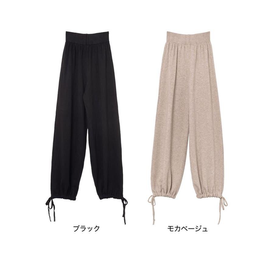 2つの顔を持つパンツ。シルエットの違いを楽しんで 裾絞りマムパンツ パンツ 2