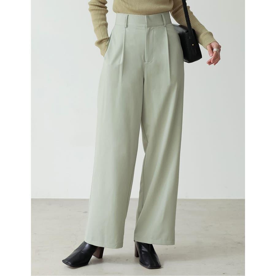 深みのある色合いが魅力のカラーパンツが登場 センタータックカラースラックスパンツ 50