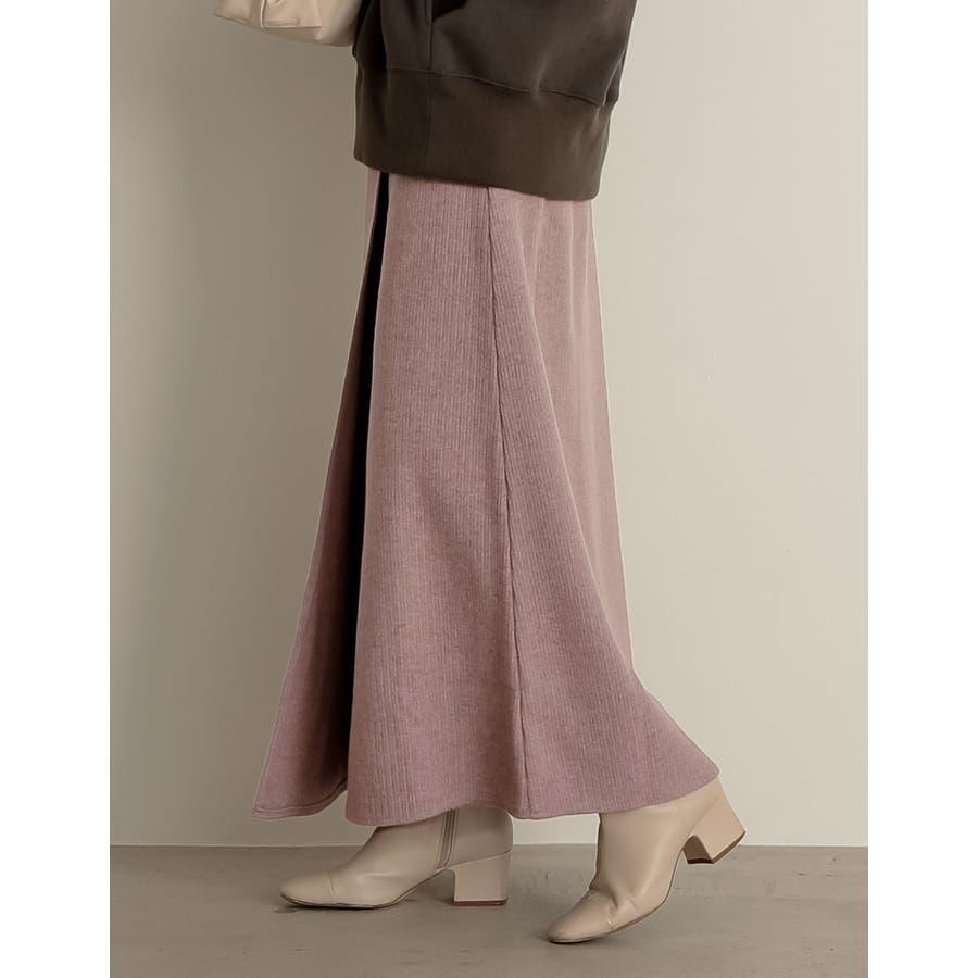 上質で機能的でモード。マルチにこなす冬ボトム リブセミタイトラップ風スカート スカート/スカート 87