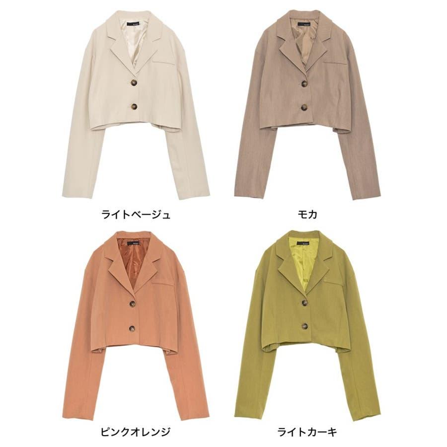 春まで待てない!今から着たいカラージャケット ショート丈スプリングジャケット ジャケット/アウター/テーラードジャケット 2