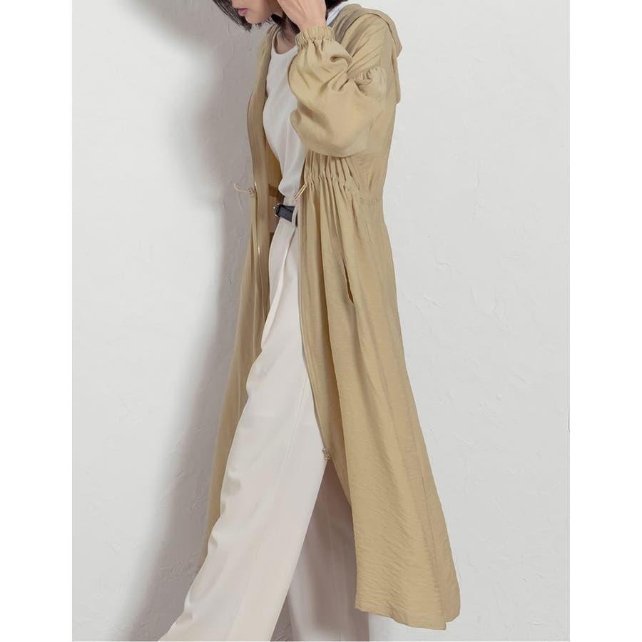 程よいカジュアルに「大人の品」を加えた羽織りアイテム ガーゼファイユパーカーワンピース ワンピース/ワンピース 7
