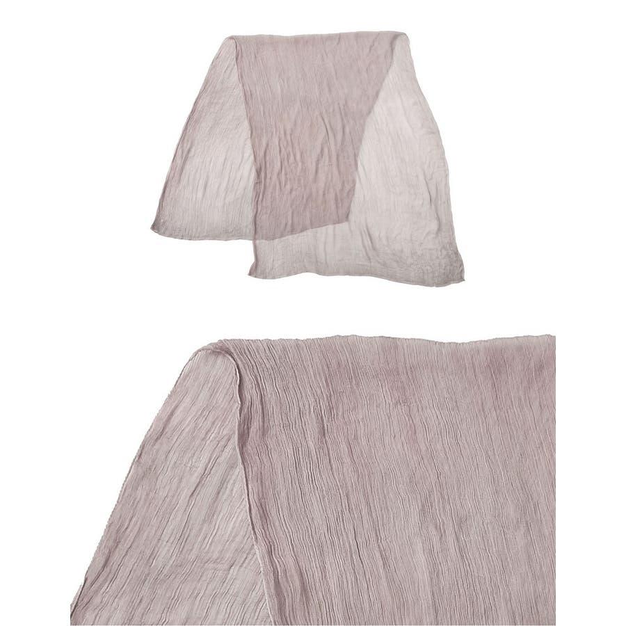 スタイリングを格上げする大人の楊柳ストールが登場 楊柳ストール ファッション雑貨/マフラー/ショール 5