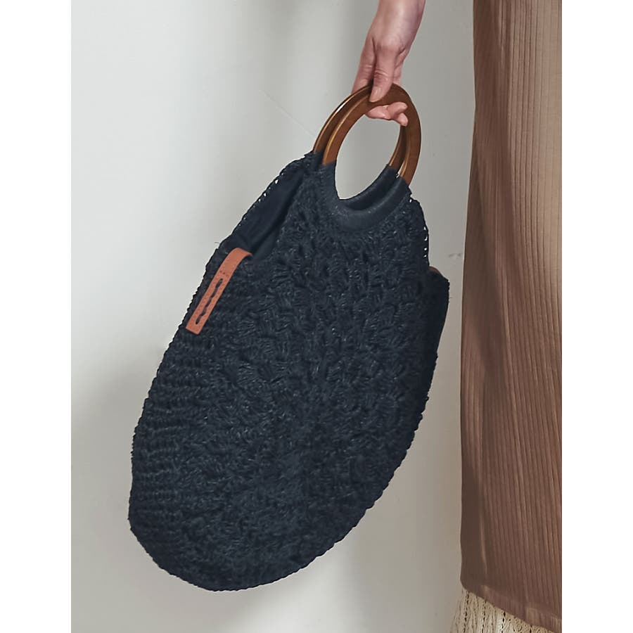 お買い物にお散歩に。ナチュラルなシーズンバッグが登場 [近藤千尋さん着用]天然素材サークルハンドバッグ バッグ/ハンドバッグ 21