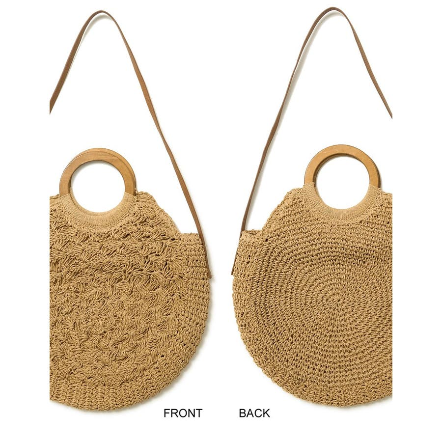 お買い物にお散歩に。ナチュラルなシーズンバッグが登場 [近藤千尋さん着用]天然素材サークルハンドバッグ バッグ/ハンドバッグ 5
