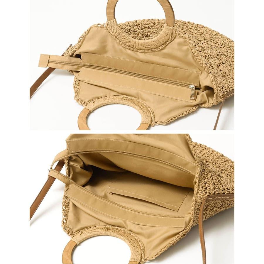 お買い物にお散歩に。ナチュラルなシーズンバッグが登場 [近藤千尋さん着用]天然素材サークルハンドバッグ バッグ/ハンドバッグ 7