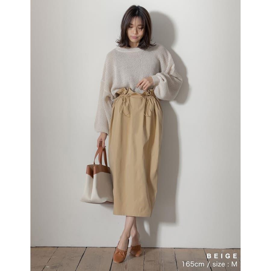 上品さとカジュアル感のバランスが嬉しい旬ボトム シャークスキンドロストタイトスカート スカート/スカート 4