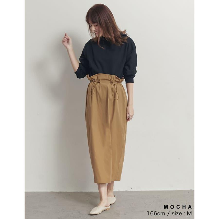 上品さとカジュアル感のバランスが嬉しい旬ボトム シャークスキンドロストタイトスカート スカート/スカート 7