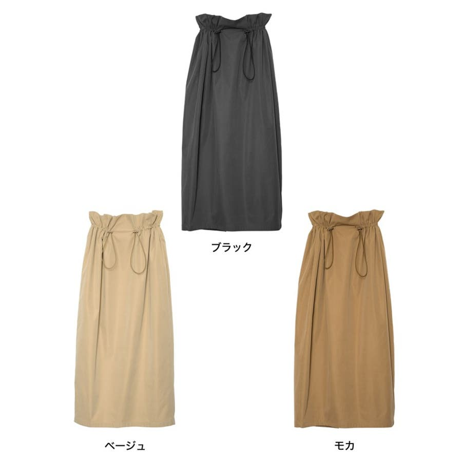 上品さとカジュアル感のバランスが嬉しい旬ボトム シャークスキンドロストタイトスカート スカート/スカート 2