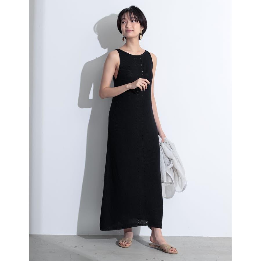 エレガントなサマードレスに身を包む夏リネン混アメスリニットキャミワンピースワンピ… 21