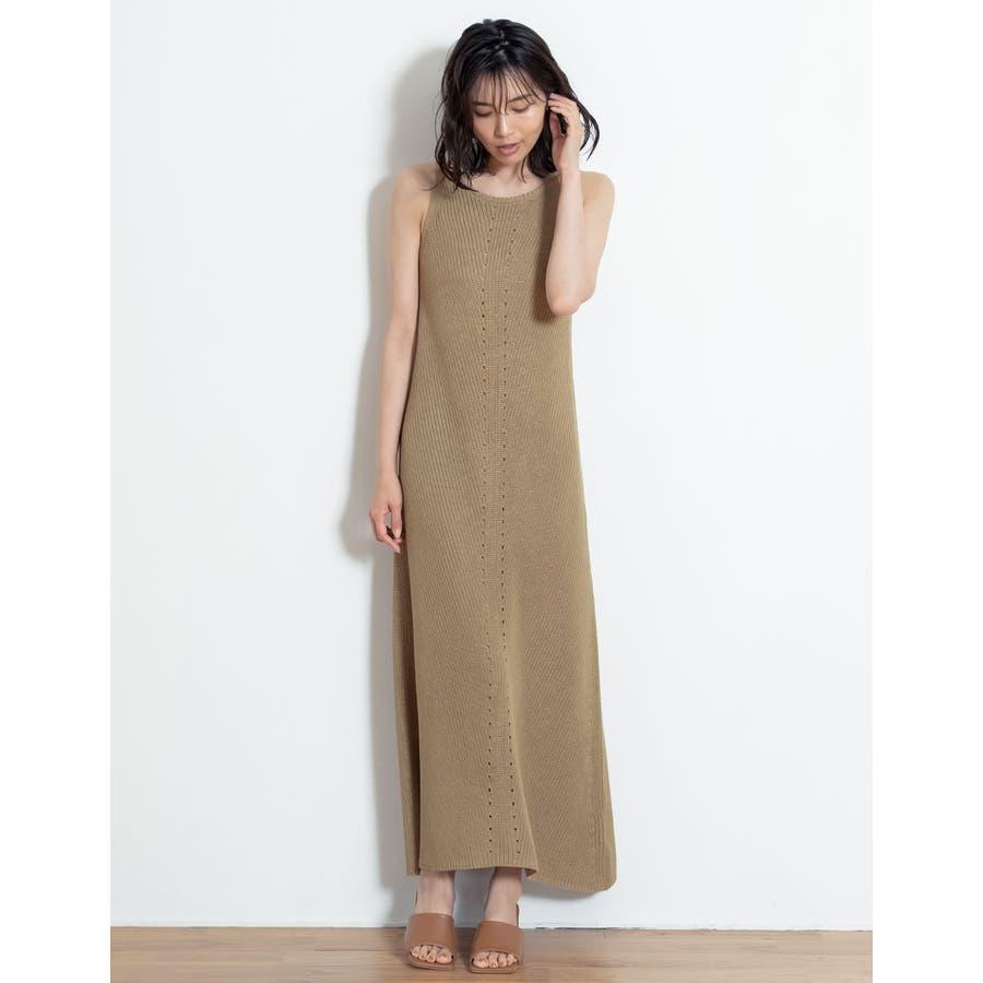 エレガントなサマードレスに身を包む夏リネン混アメスリニットキャミワンピースワンピ… 41