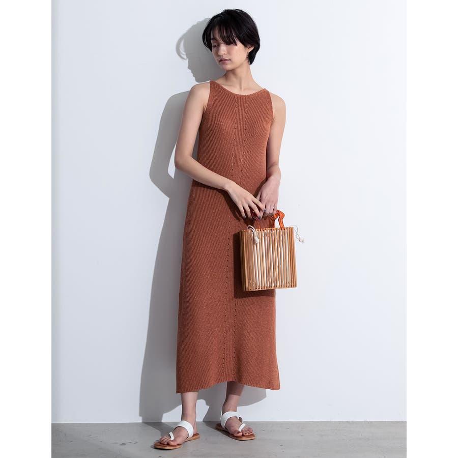 エレガントなサマードレスに身を包む夏リネン混アメスリニットキャミワンピースワンピ… 33