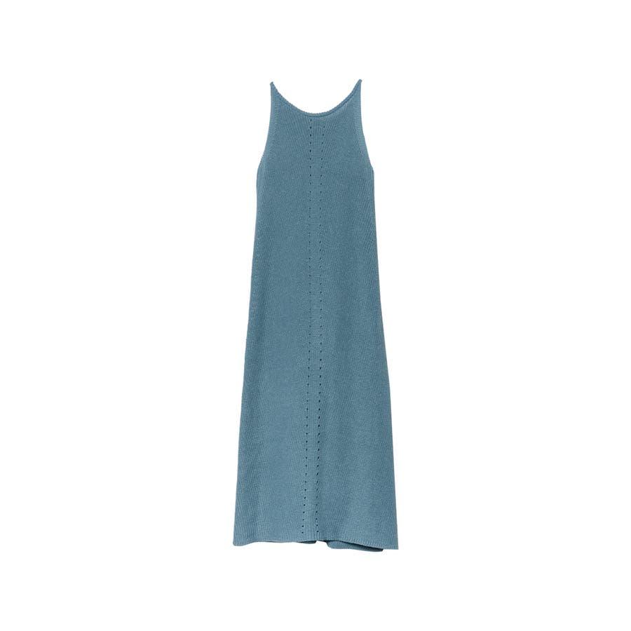 エレガントなサマードレスに身を包む夏リネン混アメスリニットキャミワンピースワンピ… 59