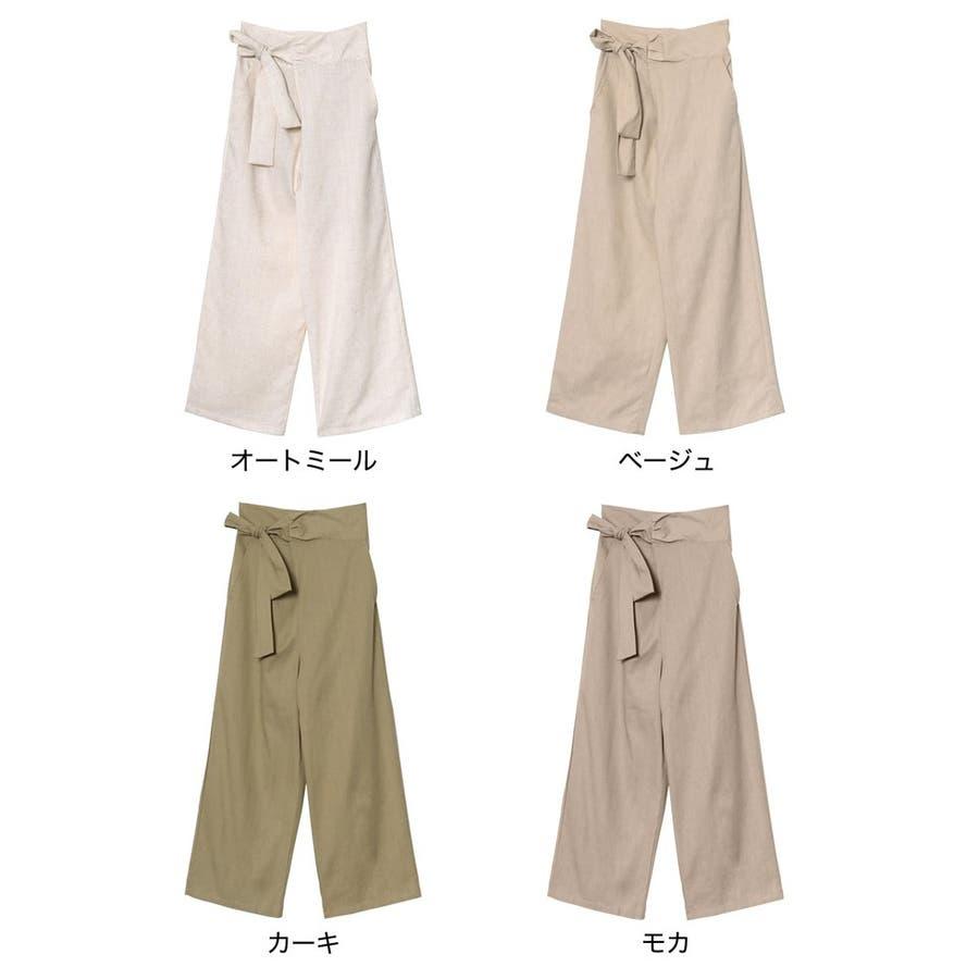 春夏の着こなしに映えるリネンライクな旬ボトム リネンライクラップパンツ パンツ 2