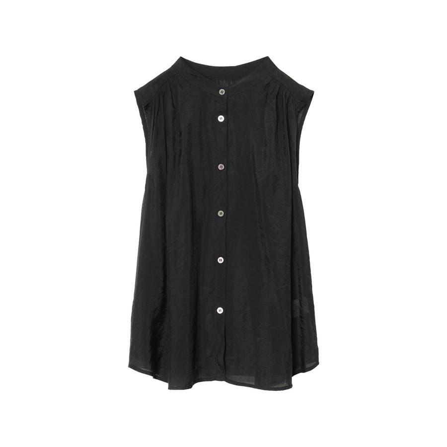 旬のシアーシャツが夏仕様で登場! ノースリシアーシャツブラウス トップス 21