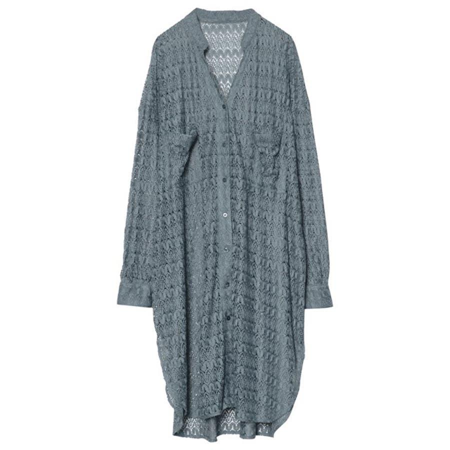 繊細な透かし編みが美しいレースカーディガン [お家で洗える]ジオメトリーレースシャツカーディガン トップス/シャツ/ブラウス 57