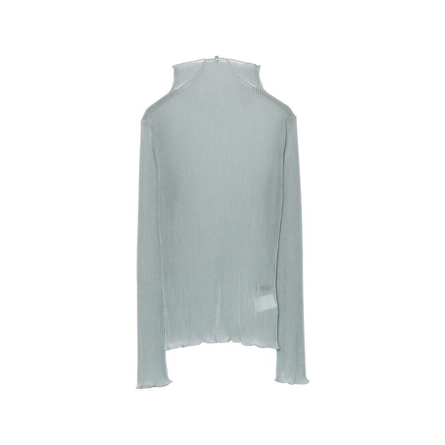 ラメの質感がトレンドライクなシアートップス [お家で洗える]メローネックシアープリーツトップス トップス/Tシャツ/カットソー 59