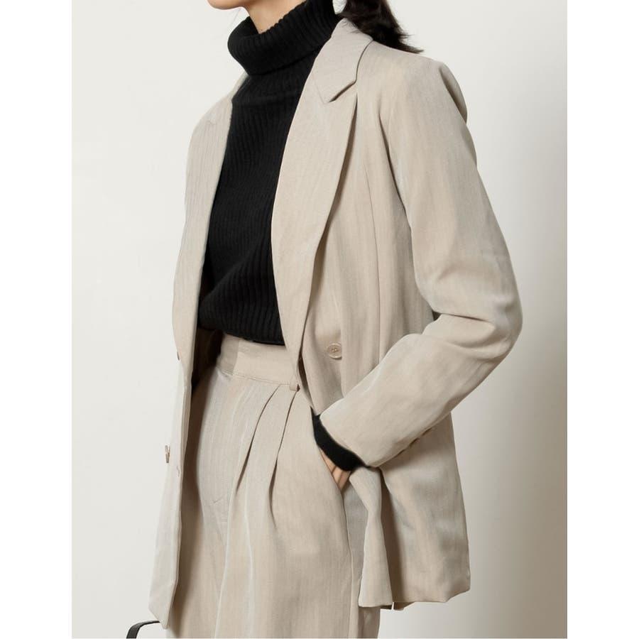 マニッシュスタイルにも繊細で上品なテーラードジャケット 7