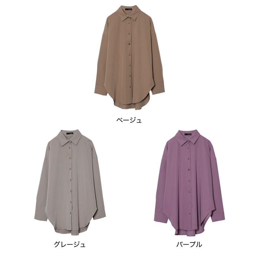 羽織るだけで秋のコーディネートがクラスアップ [お家で洗える]ストレッチツイルオーバーサイズシャツ トップス/シャツ/ブラウス 2
