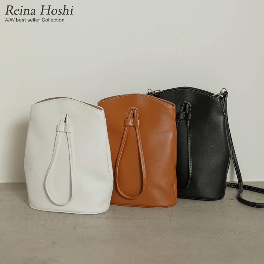 コンパクトサイズでも、必要な物はバッチリ入る優秀バッグ。 ヴィーガンレザーステッチショルダーバッグ バッグ/ショルダーバッグ 1