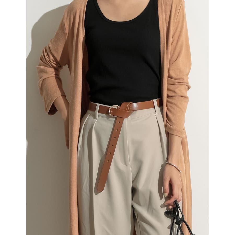 ウエストに旬のアクセント リングバックルベルト ファッション雑貨 33