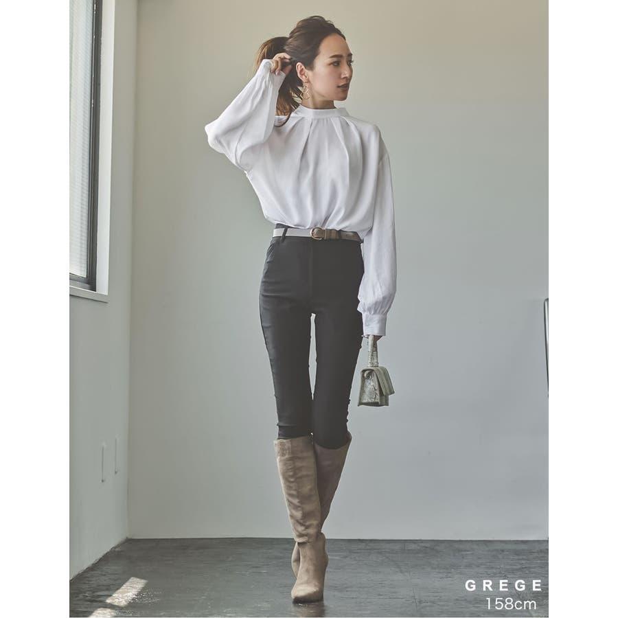 ウエストに旬のアクセント リングバックルベルト ファッション雑貨 7