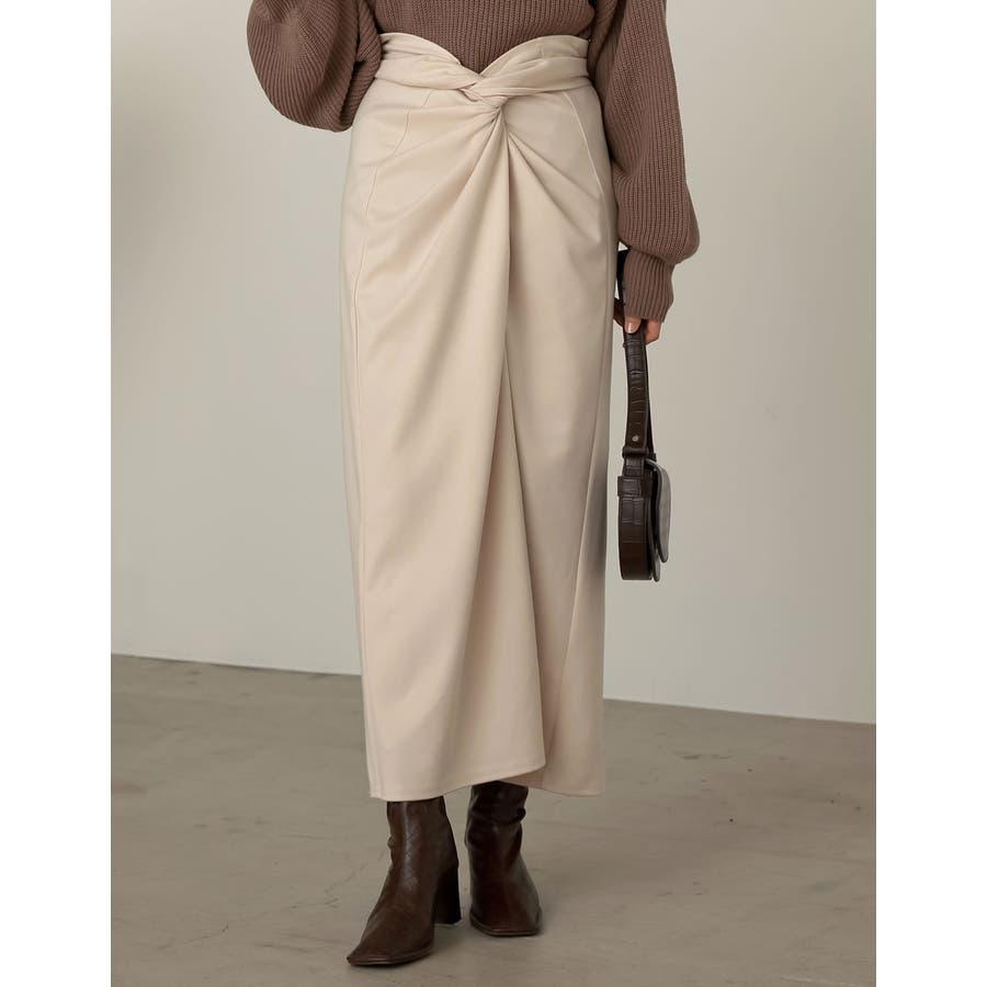 あえてカジュアルに着たいウエストコンシャスなスカート起毛ジャージーストレッチメニ… 18