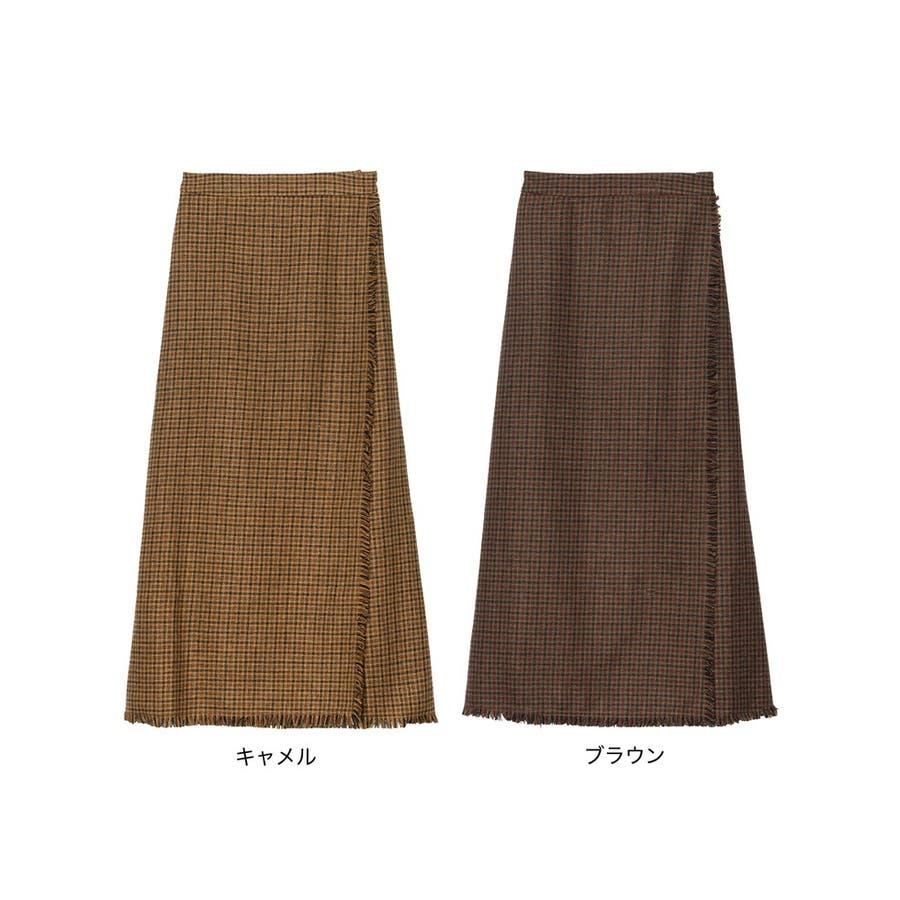 デザイン性がありながらもすっきり着れるストレートスカート 2