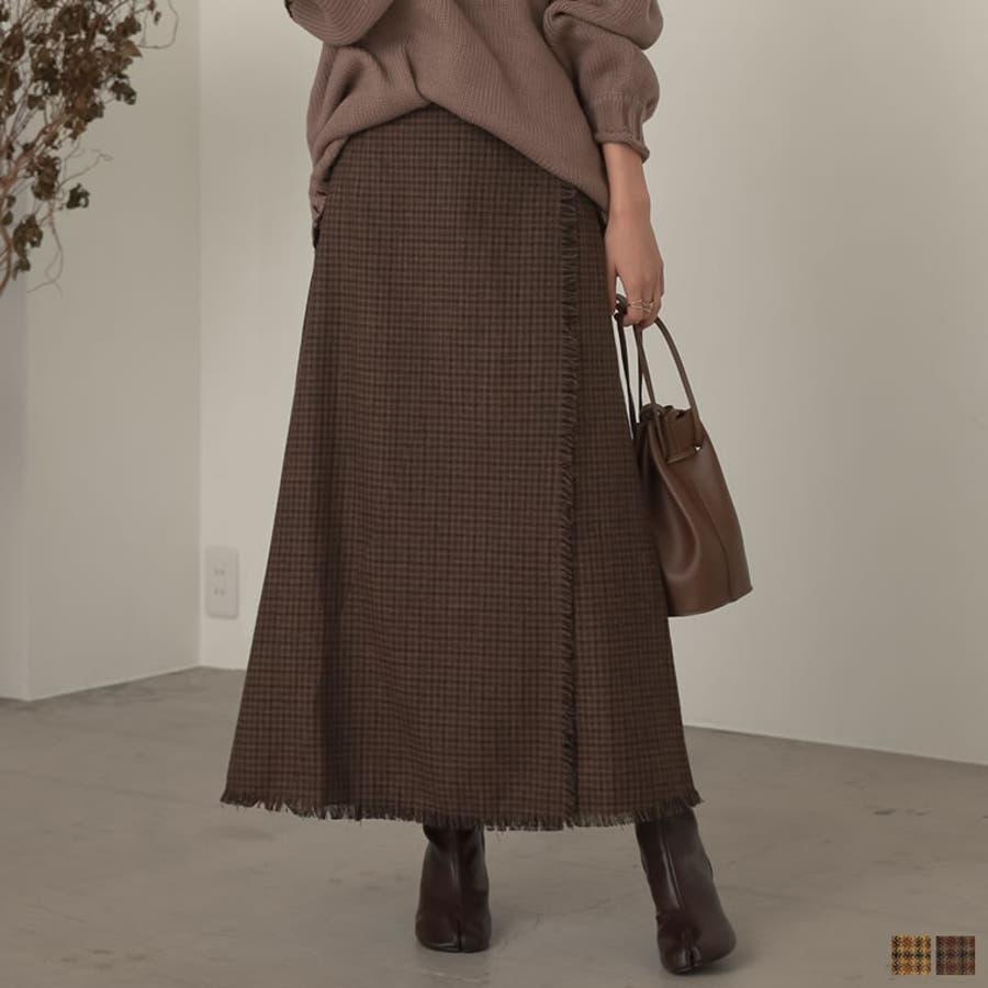 デザイン性がありながらもすっきり着れるストレートスカート 1