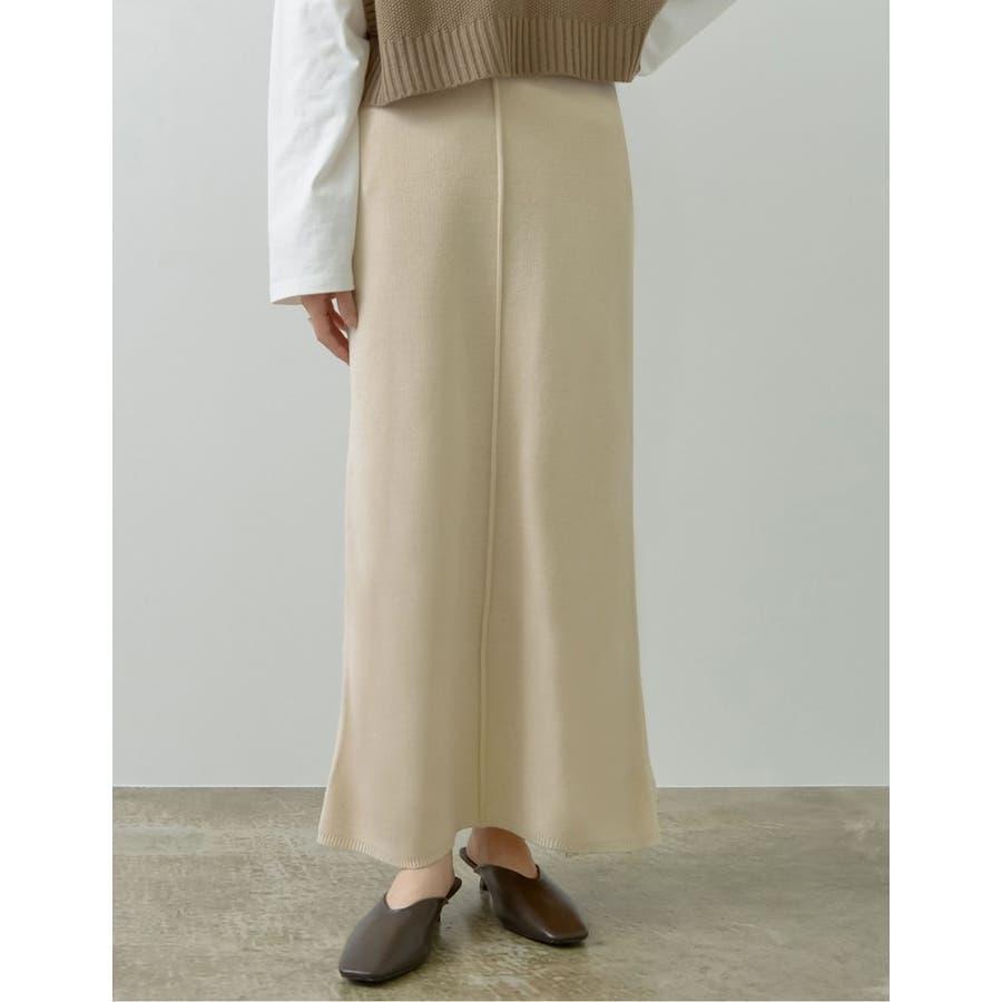 カジュアル×エレガントなミラノリブニットタイトスカート 17