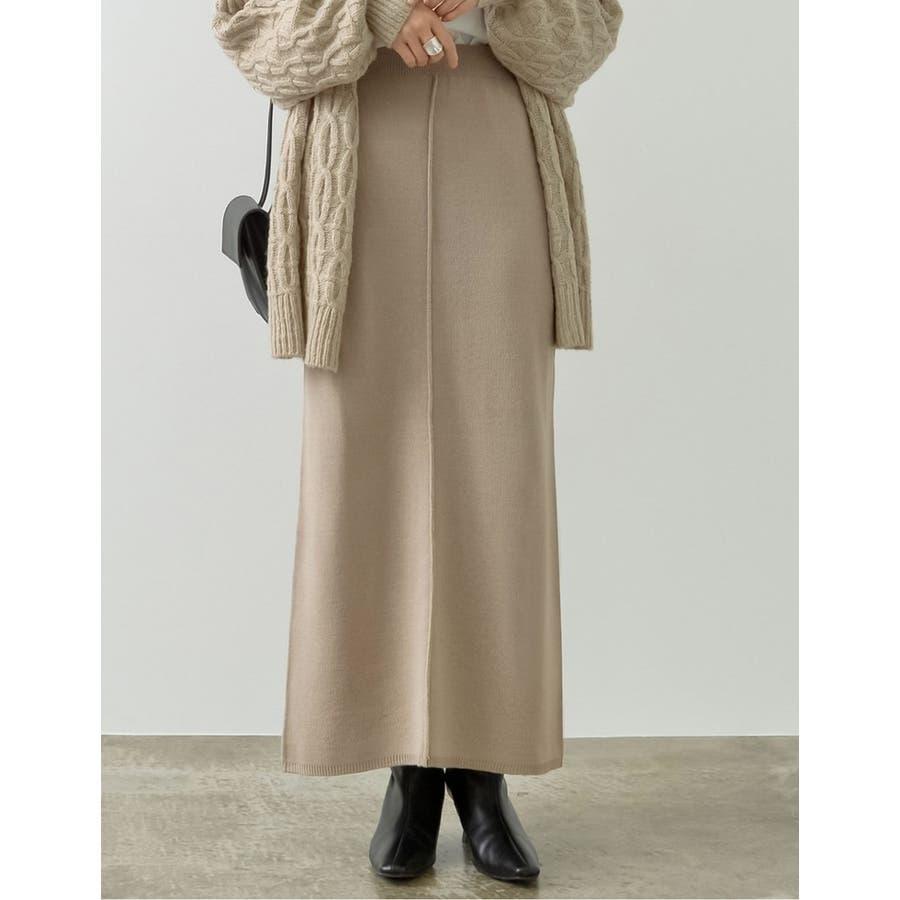 カジュアル×エレガントなミラノリブニットタイトスカート 35
