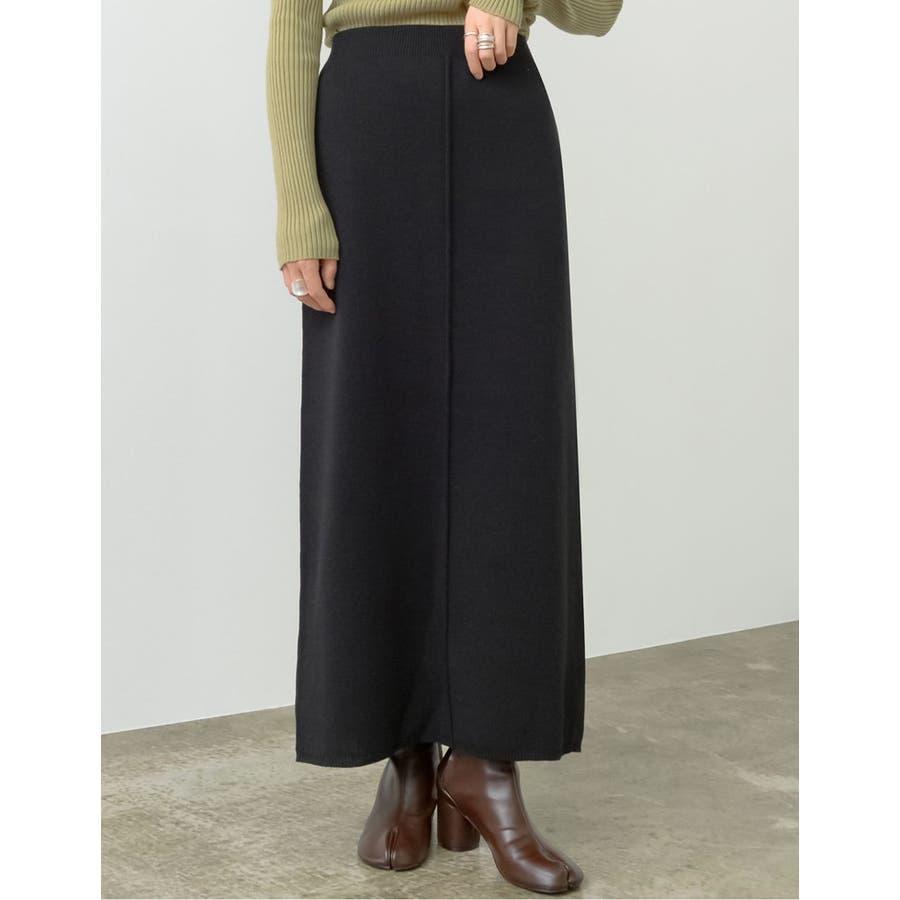 カジュアル×エレガントなミラノリブニットタイトスカート 7