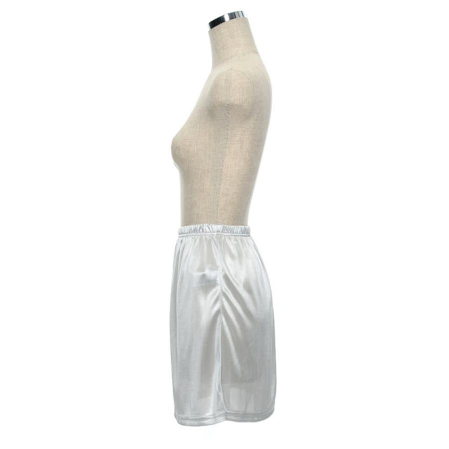 インナースカート ストレッチ ウエストゴム ペチコート オリジナル レディース CHICMUSE オフィス 4