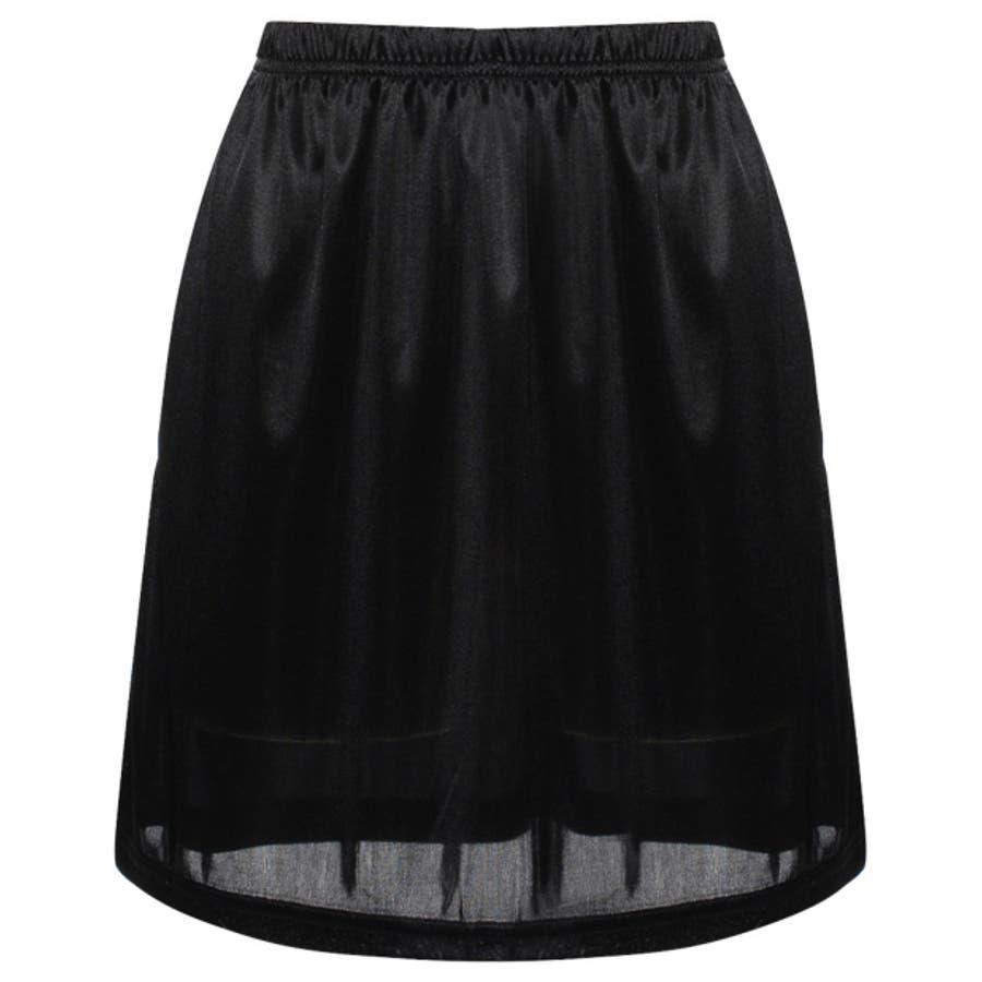 インナースカート ストレッチ ウエストゴム ペチコート オリジナル レディース CHICMUSE オフィス 10