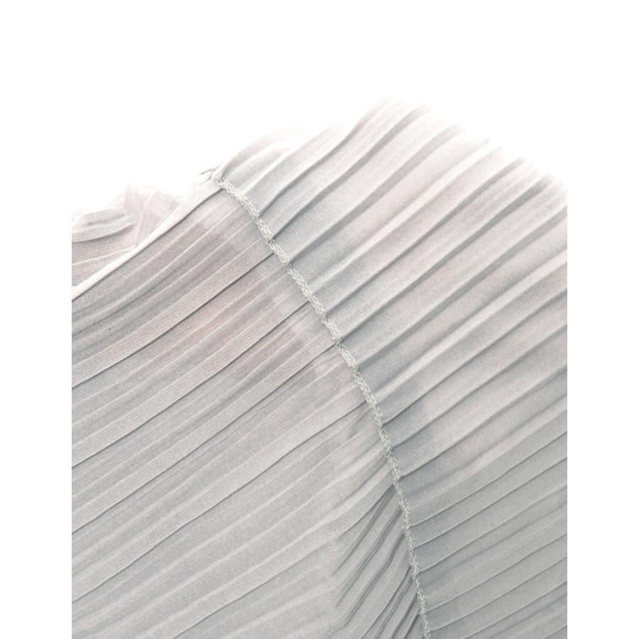 スカート プリーツ ティアードフリル ジョーゼット ミディアム丈 ウエストゴム /秋冬レディース オフィス 10