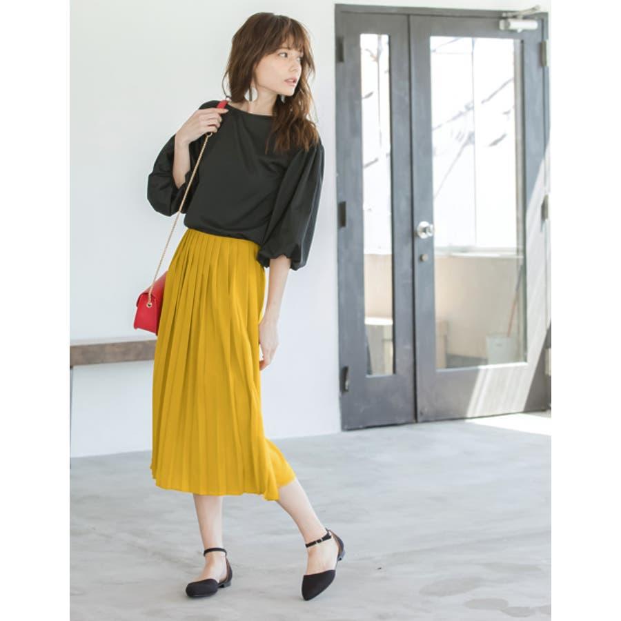 遊び心のあるデザインでトレンドライクに。 プリーツ巻きスカート風ガウチョパンツ ボトムス/パンツ/ワイドパンツ・ガウチョパンツ 5